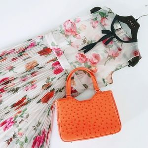 Handbags - Auth. Ostrich Leather Bag